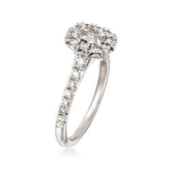 Henri Daussi 1.14 ct. t.w. Diamond Engagement Ring in 18kt White Gold