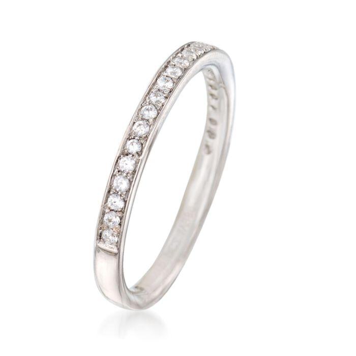 Gabriel Designs .22 ct. t.w. Diamond Wedding Ring in 14kt White Gold