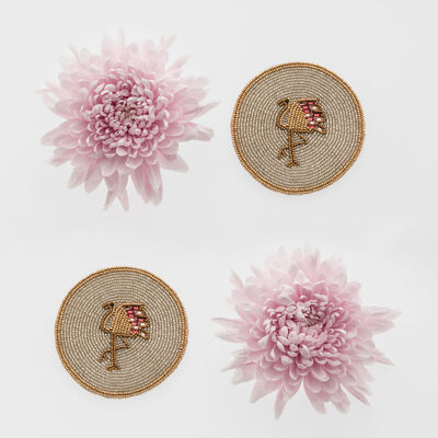 Joanna Buchanan Set of 4 Flamingo Coasters, , default
