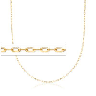 Italian 1mm 14kt Yellow Gold Adjustable Slider Forzatina Chain Necklace