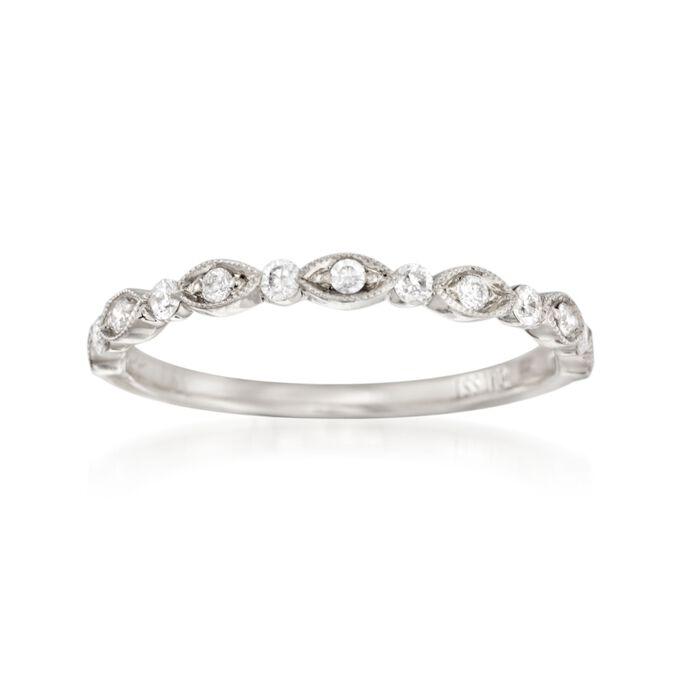 Henri Daussi .20 ct. t.w. Diamond Wedding Ring in 18kt White Gold, , default