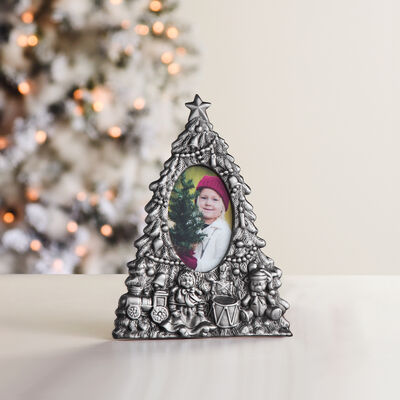 Reed & Barton Christmas Tree Frame 3x5