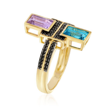 1.80 ct. t.w. Multi-Stone Ring in 18kt Gold Over Sterling. Size 5