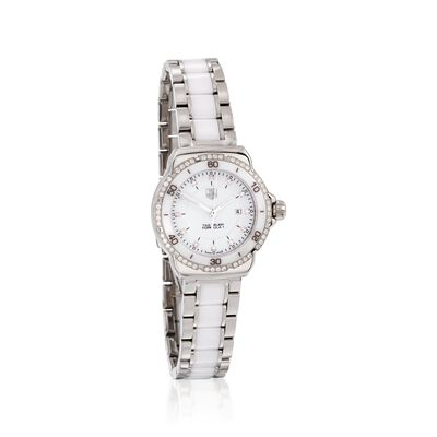 TAG Heuer Formula 1 Women's 32mm .44 ct. t.w. Diamond Watch in Stainless Steel and White Ceramic, , default