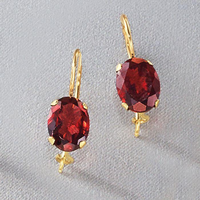 3.00 ct. t.w. Garnet Drop Earrings in 14kt Yellow Gold