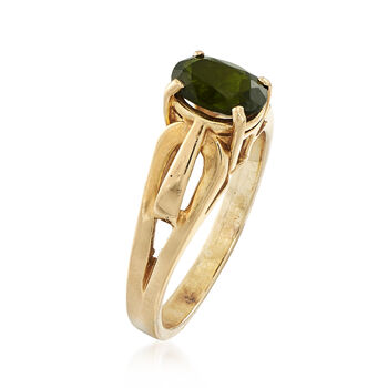 C. 1980 Vintage Tourmaline Ring in 14kt Yellow Gold. Size 5