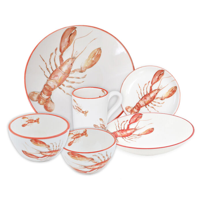 Abbiamo Tutto Italian Lobster Ceramic Dinnerware, , default
