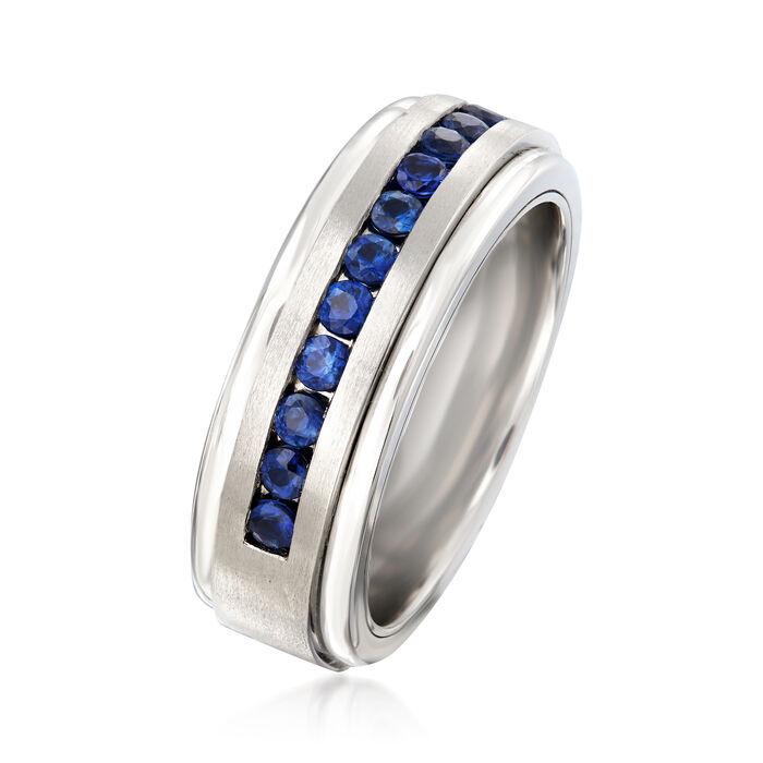Men's 1.50 ct. t.w. Sapphire Wedding Ring in Tungsten Carbide