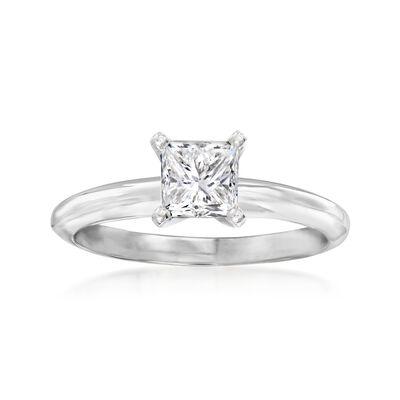 .90 Carat Certified Diamond Ring in Platinum