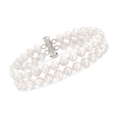 6-6.5mm Cultured Pearl Bracelet with Sterling Silver Clasp