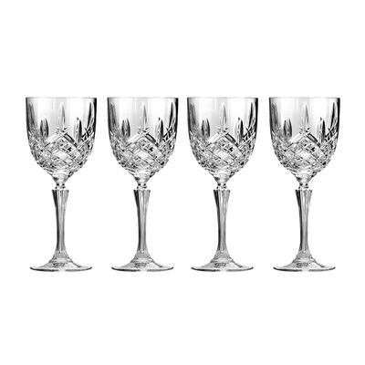 "Marquis by Waterford Crystal ""Markham"" Set of 4 Wine Glasses from Italy"