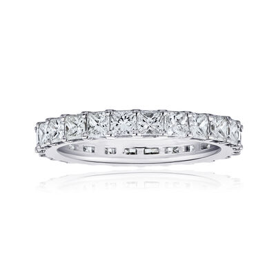 4.90 ct. t.w. Princess-Cut Diamond Eternity Band in 14kt White Gold, , default