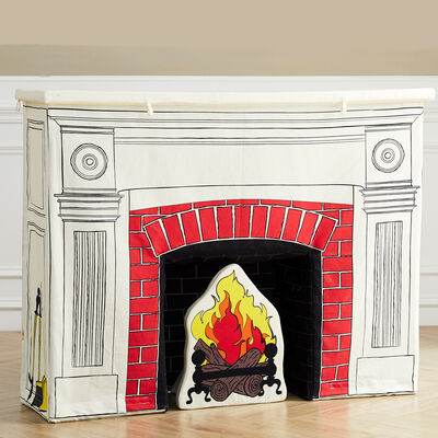 Child's Toy Fireplace and Accessories
