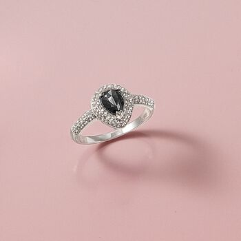 1.25 ct. t.w. Black and White Diamond Ring in 14kt White Gold, , default