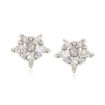 "Swarovski Crystal ""Lady"" Clear Crystal Star Earrings in Silvertone , , default"