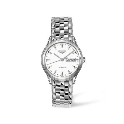 Longines Flagship Men's 38.5mm Automatic Stainless Steel Watch - White Dial, , default