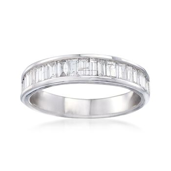 1.00 ct. t.w. Baguette Diamond Ring in 14kt White Gold, , default
