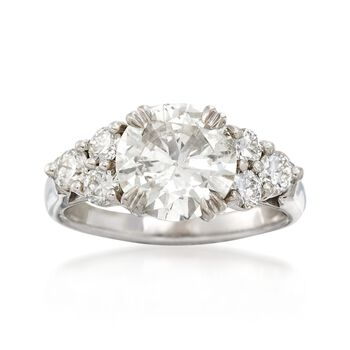 Majestic Collection 3.32 ct. t.w. Diamond Ring in 18kt White Gold, , default