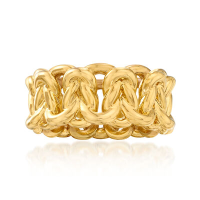 Italian Andiamo 14kt Yellow Gold Link Ring