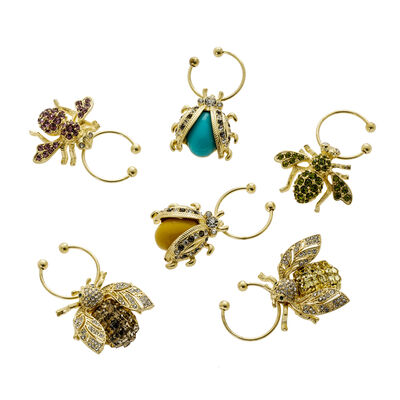 Joanna Buchanan Bedazzled Bee Wine Charms, , default