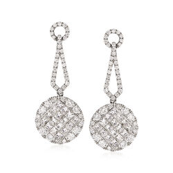 2.00 ct. t.w. Diamond Drop Earrings in 18kt White Gold, , default