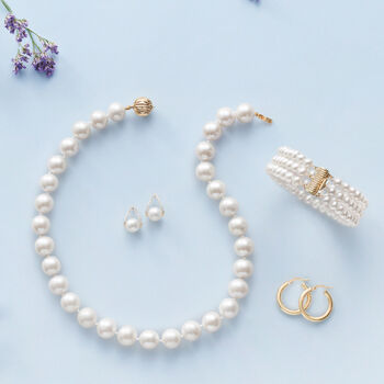 5-5.5mm Cultured Pearl Bracelet with 14kt Yellow Gold Clasp