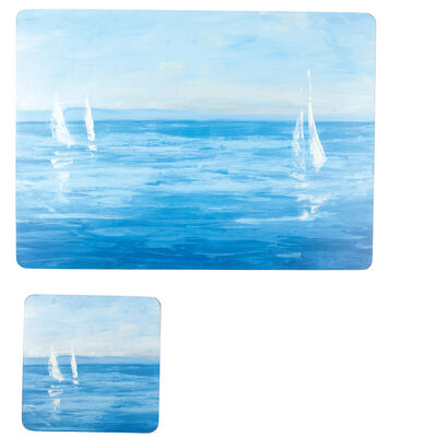 Open Sail 4-pc. Placemats and Coasters