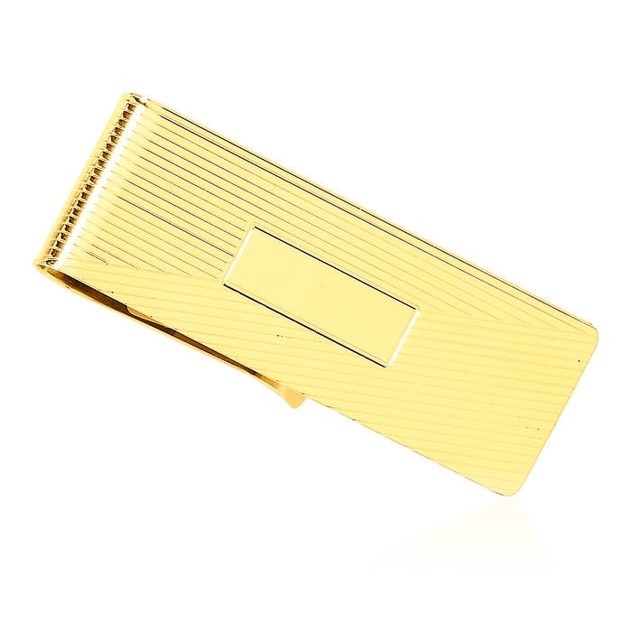 14kt Yellow Gold Personalized Three Initial Money Clip, , default