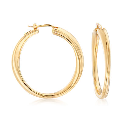 "Roberto Coin ""Oro Classic"" Hoop Earrings in 18kt Yellow Gold, , default"