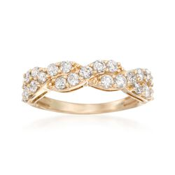 1.00 ct. t.w. Diamond Twist Ring in 14kt Yellow Gold, , default