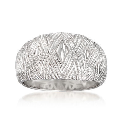 "Andrea Candela ""Tapiceria"" Sterling Silver Chevron Ring, , default"
