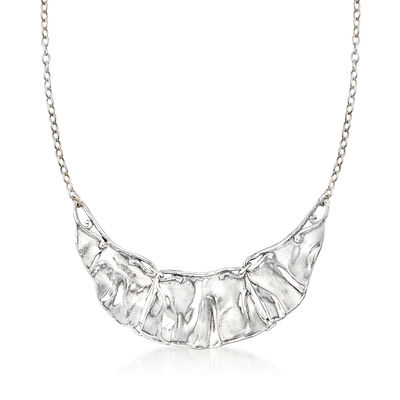 Sterling Silver Graduated Bib Necklace