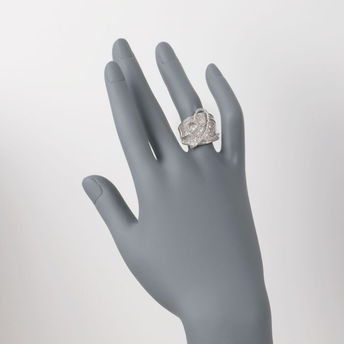 1.40 ct. t.w. Diamond Heart Ring in Sterling Silver