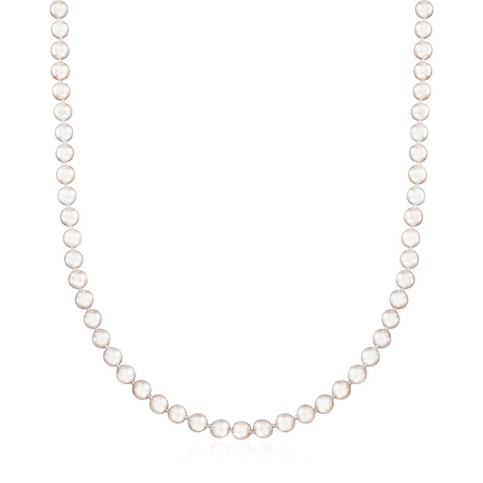 5-5.5mm Cultured Akoya Pearl Necklace with 18kt White Gold