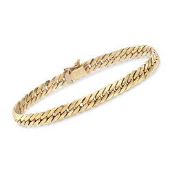 C. 1990 Vintage 14kt Yellow Gold Curb-Link Bracelet, , default