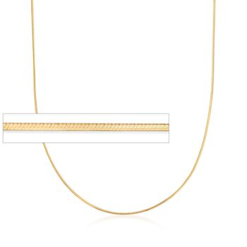 "Italian 1mm 18kt Yellow Gold Over Sterling Silver Adjustable Slider Square Snake Chain. 24"", , default"