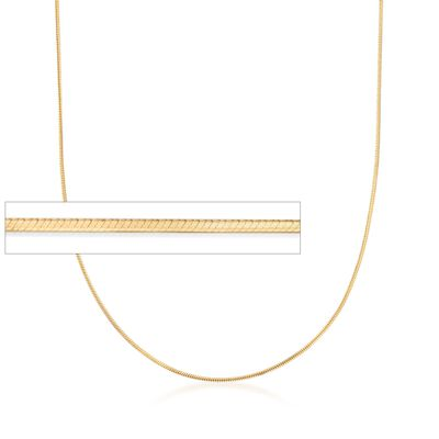 Italian 1mm 18kt Yellow Gold Over Sterling Silver Adjustable Slider Square Snake Chain, , default