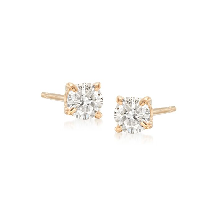 .33 ct. t.w. Diamond Stud Earrings in 14kt Yellow Gold , , default