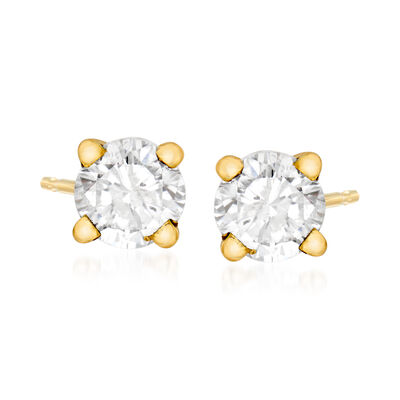C. 1990 Vintage .70 ct. t.w. Diamond Stud Earrings in 14kt Yellow Gold