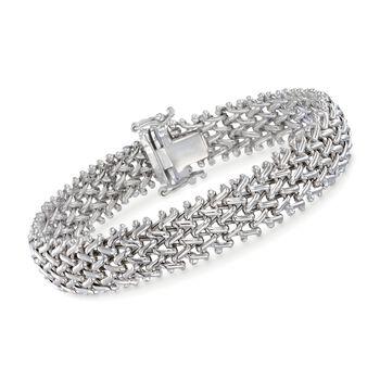 """Sterling Silver Riso Link Bracelet. 7"""", , default"""