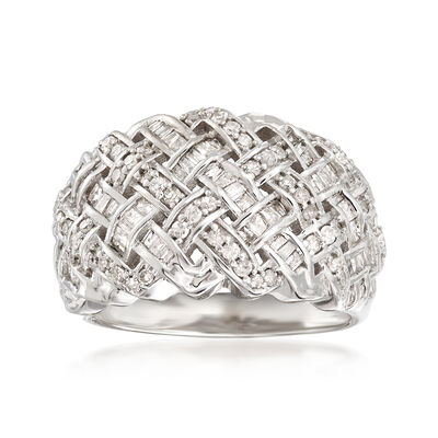 1.00 ct. t.w. Diamond Dome Ring in Sterling Silver