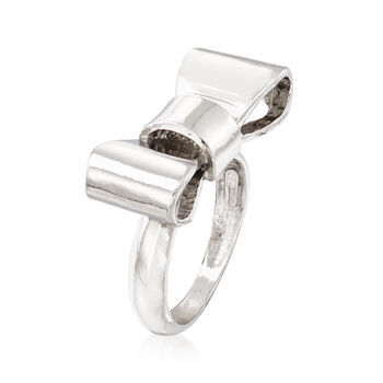 Italian Sterling Silver Bow Ring