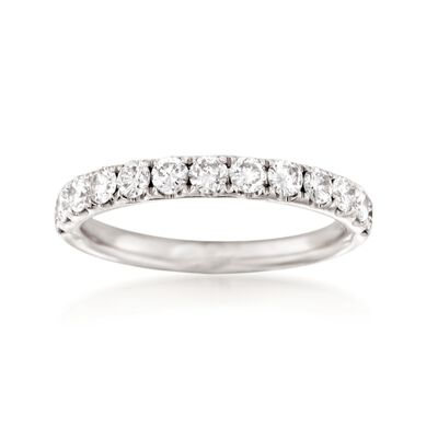 Henri Daussi .75 ct. t.w. Diamond Wedding Ring in 14kt White Gold, , default