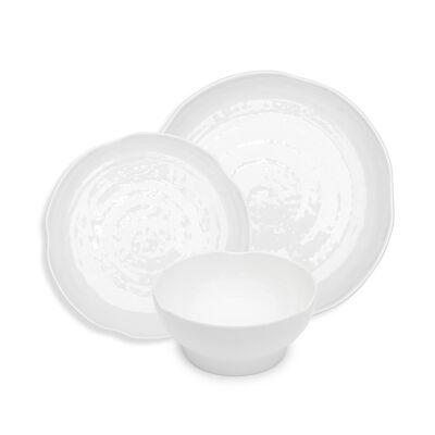 Pearl White Melamine Dinnerware, , default