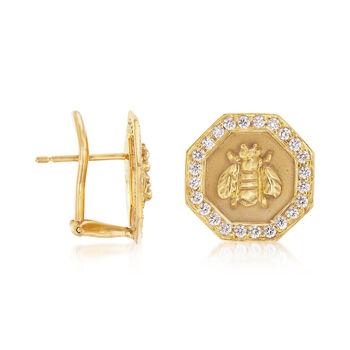 Mazza .72 ct. t.w. Diamond Bumble Bee Earrings in 14kt Yellow Gold. , , default