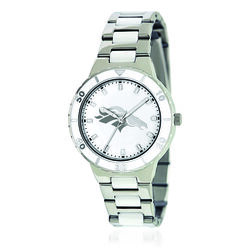 Ladies 36mm NFL Denver Broncos Stainless Steel Watch With Mother-Of-Pearl Dial, , default