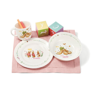 Wedgwood Peter Rabbit Girl's Three-Piece Dinnerware Set, , default