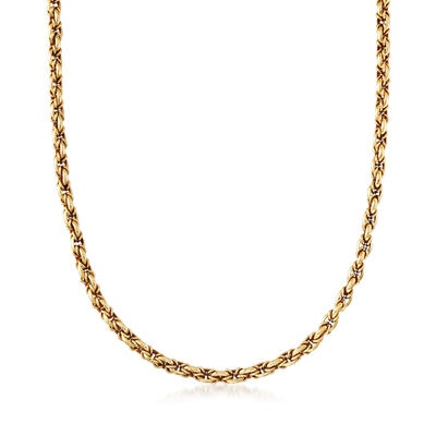 C. 1990 Vintage Chaumet 18kt Yellow Gold Rolo Chain Necklace, , default