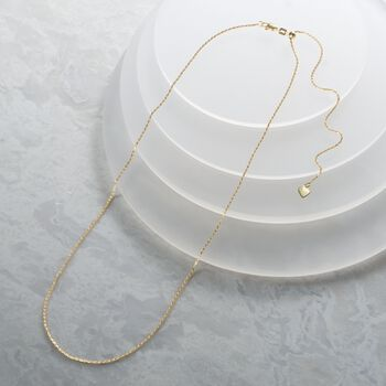 1mm 14kt Yellow Gold Adjustable Rope Chain Necklace, , default