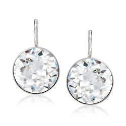 "Swarovski Crystal ""Bella"" Crystal Drop Earrings in Silvertone, , default"